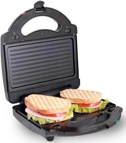 Бутербродниця Domotec MS 7709, електрична сэндвичница і контактний прижимний гриль для дому, тостер