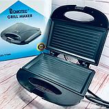 Бутербродниця Domotec MS 7709, електрична сэндвичница і контактний прижимний гриль для дому, тостер, фото 6