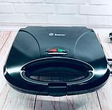 Бутербродниця Domotec MS 7709, електрична сэндвичница і контактний прижимний гриль для дому, тостер, фото 7