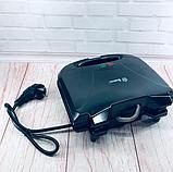 Бутербродниця Domotec MS 7709, електрична сэндвичница і контактний прижимний гриль для дому, тостер, фото 8