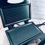 Бутербродниця Domotec MS 7709, електрична сэндвичница і контактний прижимний гриль для дому, тостер, фото 10