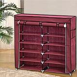 Органайзер для зберігання речей | Складні шафи з тканини | Тканинний шафа для взуття T-2712, фото 3