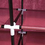 Органайзер для зберігання речей | Складні шафи з тканини | Тканинний шафа для взуття T-2712, фото 6
