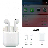 Навушники Безпровідні i100 TWS Bluetooth для Iphone і Android, фото 8