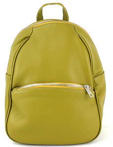 Кожаный женский рюкзак Borsacomoda желтый 9 л 814.015