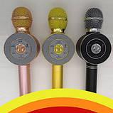 Беспроводные микрофоны для караоке Wster WS-668, Портативный микрофон, USB-микрофон, фото 3