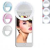 Підсвічування і спалах для селфи - світлодіодне кільце-лампа для телефону з тримачем та USB зарядкою, фото 7