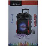 Акумуляторна портативна колонка валізу Ailiang LiGE-Q81F, бездротова Bluetooth акустика, фото 4
