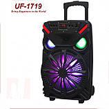 Акумуляторна портативна колонка валізу Ailiang UF-1719, бездротова Bluetooth 12 дюймова акустика, фото 2