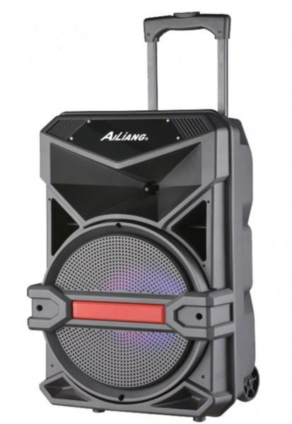 Акумуляторна колонка валізу Ailiang UF-1716, бездротова Bluetooth 15 дюймова акустика, комбопідсилювач