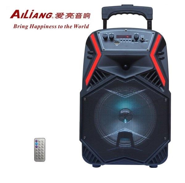 """Акумуляторна колонка валізу Ailiang LiGE-B84, бездротова 8"""" акустика, USB, FM, Baterry, пульт"""