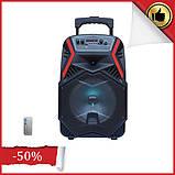 """Акумуляторна колонка валізу Ailiang LiGE-B84, бездротова 8"""" акустика, USB, FM, Baterry, пульт, фото 2"""