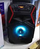 """Акумуляторна колонка валізу Ailiang LiGE-B84, бездротова 8"""" акустика, USB, FM, Baterry, пульт, фото 4"""
