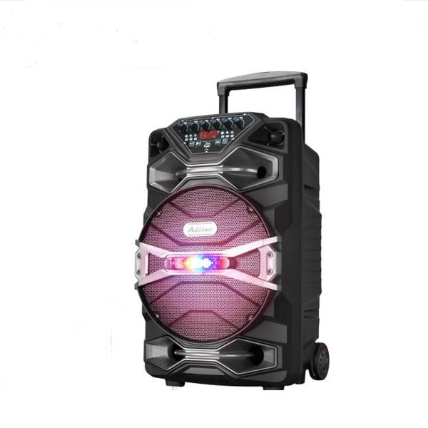 Бездротова колонка валізу Ailiang U1318SK, 12 дюймова акустика, комбопідсилювач + пульт і 2 мікрофона