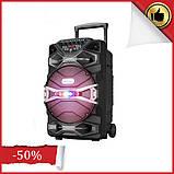 Бездротова колонка валізу Ailiang U1318SK, 12 дюймова акустика, комбопідсилювач + пульт і 2 мікрофона, фото 2
