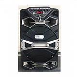 Бездротова колонка валізу Ailiang U1318SK, 12 дюймова акустика, комбопідсилювач + пульт і 2 мікрофона, фото 7