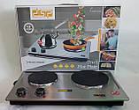 Электроплита настольная бытовая DSP KD-4047, компактная кухонная мощная плита на 2 конфорки дисковая, фото 10