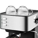 Электрическая кофеварка рожковая, кофемашина DSP Espresso Coffee Maker KA3028 с капучинатором, полуавтомат, фото 5