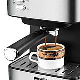 Электрическая кофеварка рожковая, кофемашина DSP Espresso Coffee Maker KA3028 с капучинатором, полуавтомат, фото 6