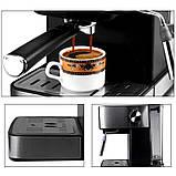 Электрическая кофеварка рожковая, кофемашина DSP Espresso Coffee Maker KA3028 с капучинатором, полуавтомат, фото 10
