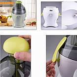Мини электрическая соковыжималка для томатов, цитрусовых, овощей и фруктов DSP KJ3042, бытовая техника в кухню, фото 10