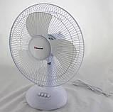 Вентилятор електричний побутової настільний Domotec MS-1626 /16 для дому та офісу, 3 швидкості, фото 6