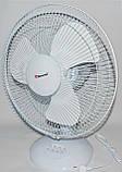 Вентилятор електричний побутової настільний Domotec MS-1626 /16 для дому та офісу, 3 швидкості, фото 8