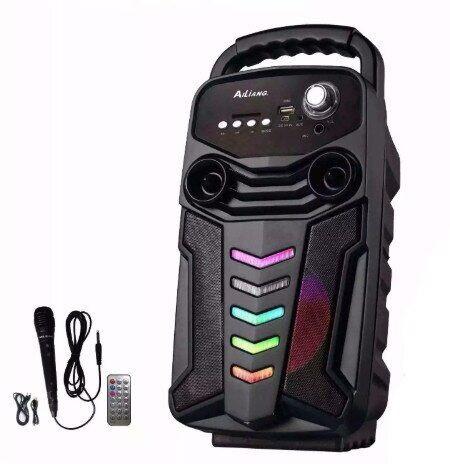 Акумуляторна бездротова колонка валізу Ailiang LiGE-3610-DT, портативна Bluetooth акустика, сабвуфер
