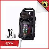 Акумуляторна бездротова колонка валізу Ailiang LiGE-3610-DT, портативна Bluetooth акустика, сабвуфер, фото 2