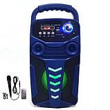 Акумуляторна бездротова колонка валізу Ailiang LiGE-3610-DT, портативна Bluetooth акустика, сабвуфер, фото 5