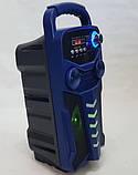 Акумуляторна бездротова колонка валізу Ailiang LiGE-3610-DT, портативна Bluetooth акустика, сабвуфер, фото 9