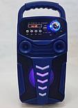 Акумуляторна бездротова колонка валізу Ailiang LiGE-3610-DT, портативна Bluetooth акустика, сабвуфер, фото 10