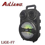 Бездротова акумуляторна колонка валізу Ailiang LiGE-F7, портативна Bluetooth акустика з підсилювачем, фото 3