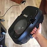 Акумуляторна мобільна акустична система KIPO KB-Q5, портативна Bluetooth акустика з мікрофоном, фото 8