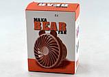 Портативний настільний вентилятор USB міні вентилятор MAKA BEAR FAN XD-011 з акумулятором, фото 6