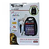 Бездротова колонка Bluetooth Golon RX-810BT, портативна колонка з мікрофонним виходом, USB, карта пам'яті, фото 7