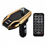 FM модулятор з bluetooth, мікро SD, 2-я роз'ємами USB X8 Plus, Автомобільний трансмітер від прикурювача, фото 7