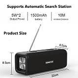 Бездротова колонка Bluetooth T9 Hopestar, недорога портативна колонка з мікрофоном, USB, карта пам'яті, фото 10
