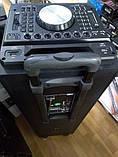 Беспроводная колонка чемодан для дискотеки Ailiang DJ-1034 с Диджей Микшером, пультом и 2 микрофонами, фото 8