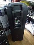Беспроводная колонка чемодан для дискотеки Ailiang DJ-1034 с Диджей Микшером, пультом и 2 микрофонами, фото 9