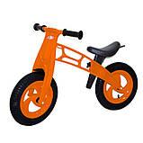 Детский велобег Cross Bike от Kinder Way, двухколесный беговел для активного отдыха ребенка, каталка, фото 4