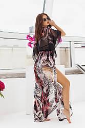 Пляжная туника  в пол в расцветках  2080451