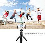 Універсальний маленький штатив для телефону з селфи-палицею 360 і пультом L01s, трипод, тринога, Bluetooth, фото 9