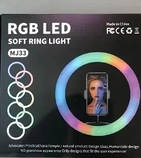 Подсветка и вспышка светодиодная для селфи, круглая лампа Led, Selfie кольцо для фото, набор блогера MJ20 RGB, фото 7