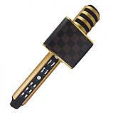 Беспроводной Bluetooth микрофон для караоке Magic Karaoke SD-18 Gold Портативный микрофон USB-микрофон, фото 3