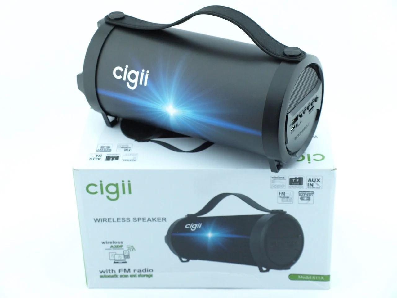 Компактная беспроводная Bluetooth Cigii S11A портативная колонка бумбокс с микрофоном USB и картой памяти