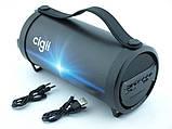 Компактная беспроводная Bluetooth Cigii S11A портативная колонка бумбокс с микрофоном USB и картой памяти, фото 5