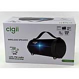 Компактная беспроводная Bluetooth Cigii S11A портативная колонка бумбокс с микрофоном USB и картой памяти, фото 6