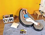 Трендовое воздушное надувное мобильное кресло-лежак ламзак с пуфиком из пвх для отдыха, фото 6