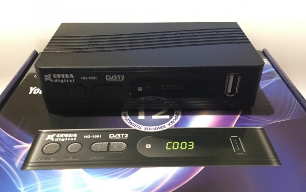 Ресивер цифрового телебачення Т2 OPERA DIGITAL HD-1001 приймач тюнер-приставка з підтримкою wi-fi адаптера